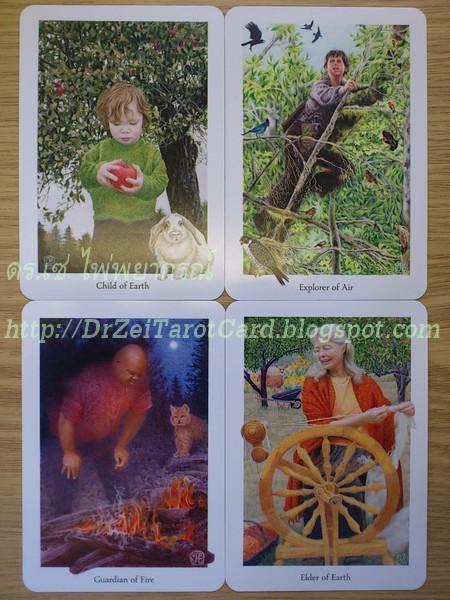ไพ่ยิปซีชุดราชสำนัก ราชวงศ์ Gaian Tarot Court Cards คอร์ทการ์ด คอร์ตการ์ด ไพ่ทาโร่