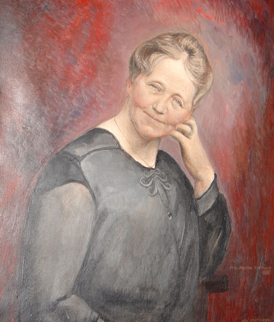 Portrait of Marthe Fretheim. According to the hotel manager, Marthe still roams the halls of the hotel tidying up and is said to evoke warmth and comfort whenever she enters the room. Photo: EuroTravelogue™.