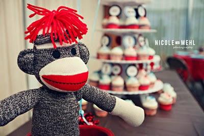 sock monkey baby shower u0026 birthday party ideas