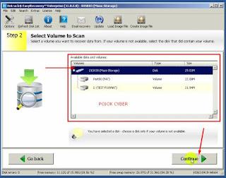 3 - Tampilan volume dari disk yang akan direcovery pada Ontrack Easy Recovery Enterprise Full Versi
