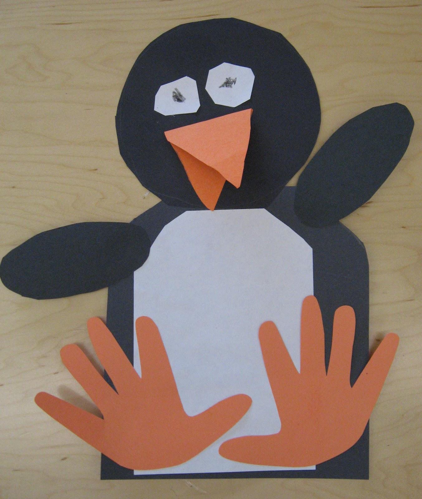 handprint penguins rubber boots and elf shoes. Black Bedroom Furniture Sets. Home Design Ideas