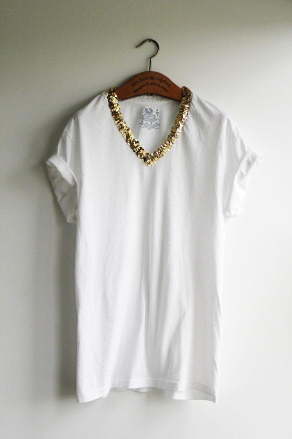the forge diy t shirt make over part i sequin collar t shirt. Black Bedroom Furniture Sets. Home Design Ideas