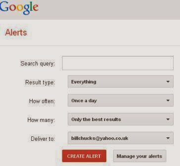 how to set up google alert for your brand