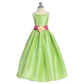 Vestido Niña de la Flores, Verde