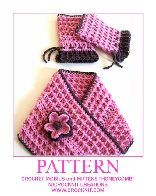 how to crochet, crochet patterns, mobius scarf, fingerless mittens,