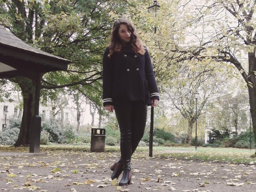 it's cohen - uk style blog: ootd, wiwt, liverpool, halloween, bat t shirt, topshop sailor coat