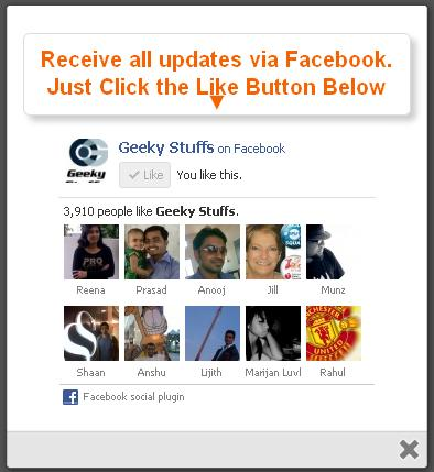 HOW TO : Install Facebook Likebox jQuery Popup Widget On Your Blog