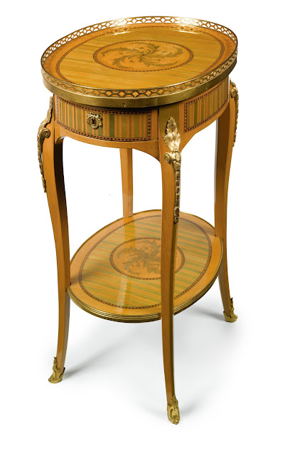 TABLE EN CHIFFONNIÈRE,CIRCA 1770, STAMPED RVLC JME, Sotheby's LOT SOLD. 122,500 USD