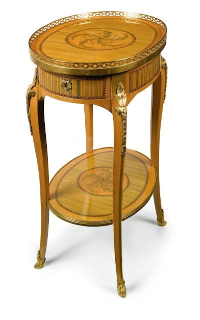 TABLE EN CHIFFONNIÈRE,CIRCA 1770, STAMPED RVLC JME, Sotheby's LOT SOLD. 122,500 USD