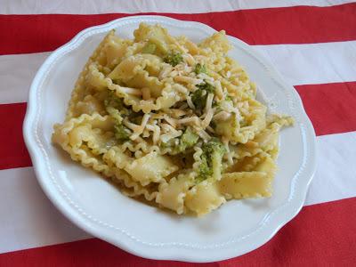 Mafalde con crema di broccoli e scamorza affumicata - Broccoli cream and scamorza cheese pasta