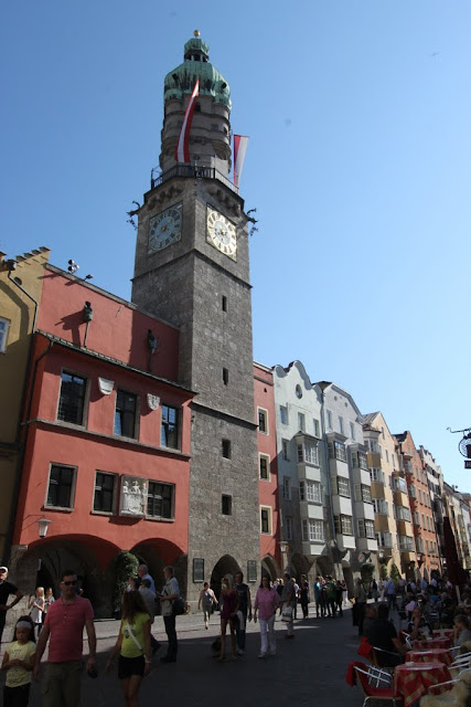 The Old City Watch Tower in Innsbruck, Austria