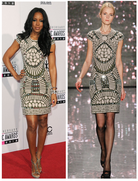 a filha do chefe Kelly Rowland red carpet american music awards 2012