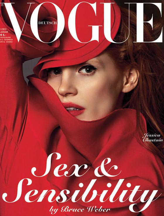 Jessica Chastain Vogue Germany january 2013