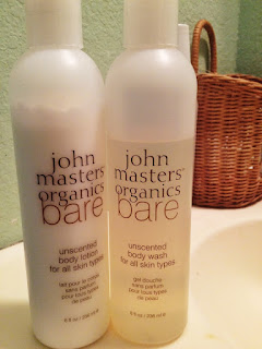 John Masters Organics Bare lotion and body wash