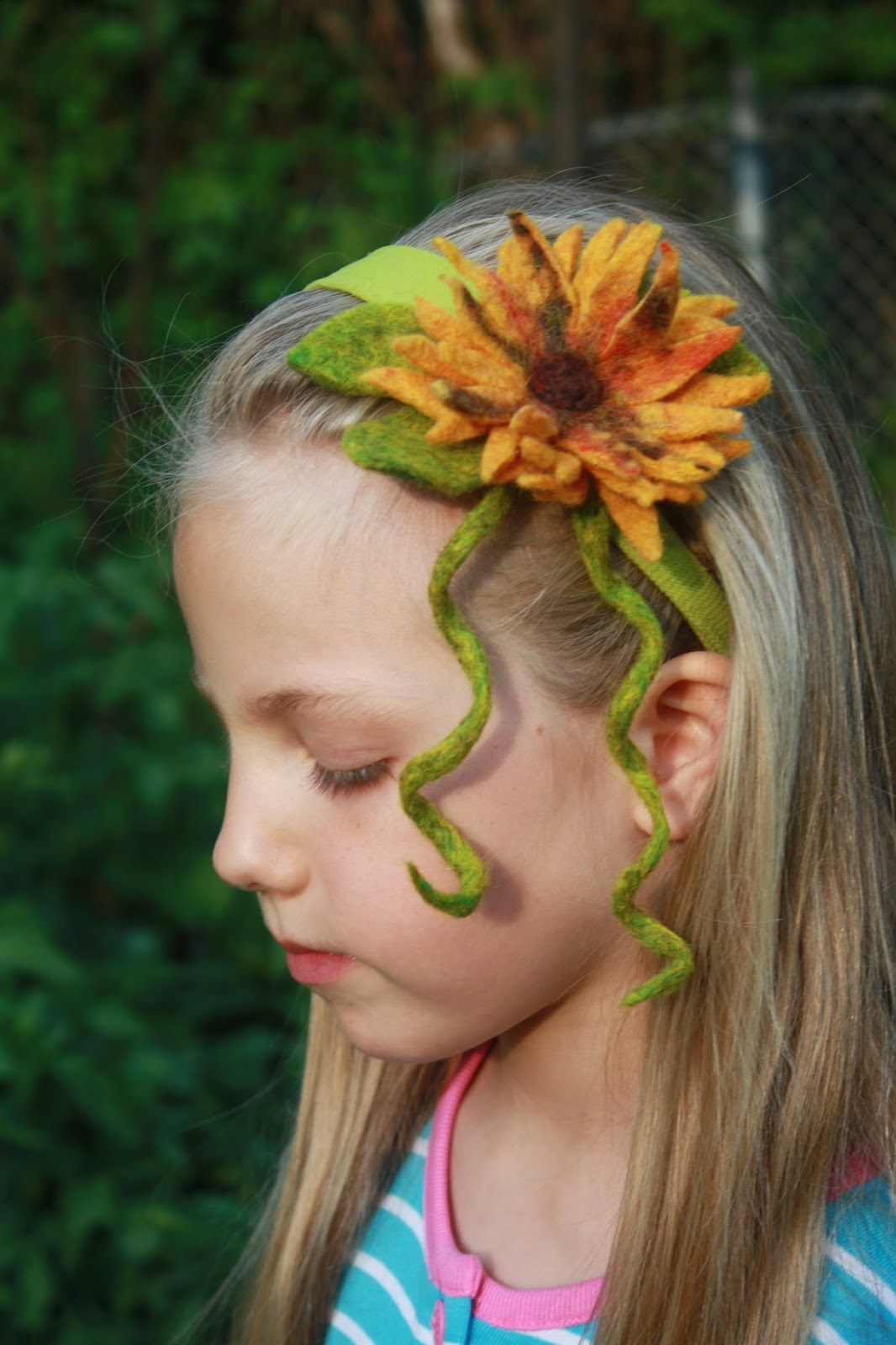 Small Town in the Big City: Wet felted flower headband (or ...