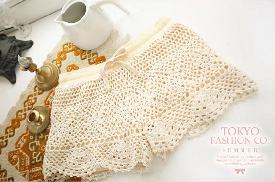 Crochet Lace Shorts by Angie Hearts