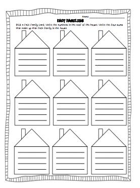 Printable Blank Fact Family Worksheets - fact family worksheetstop ...