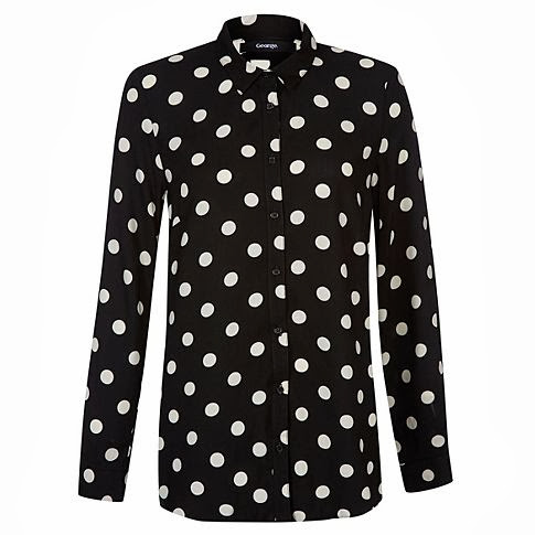 polka dot shirt, asda shirt, george shirt,