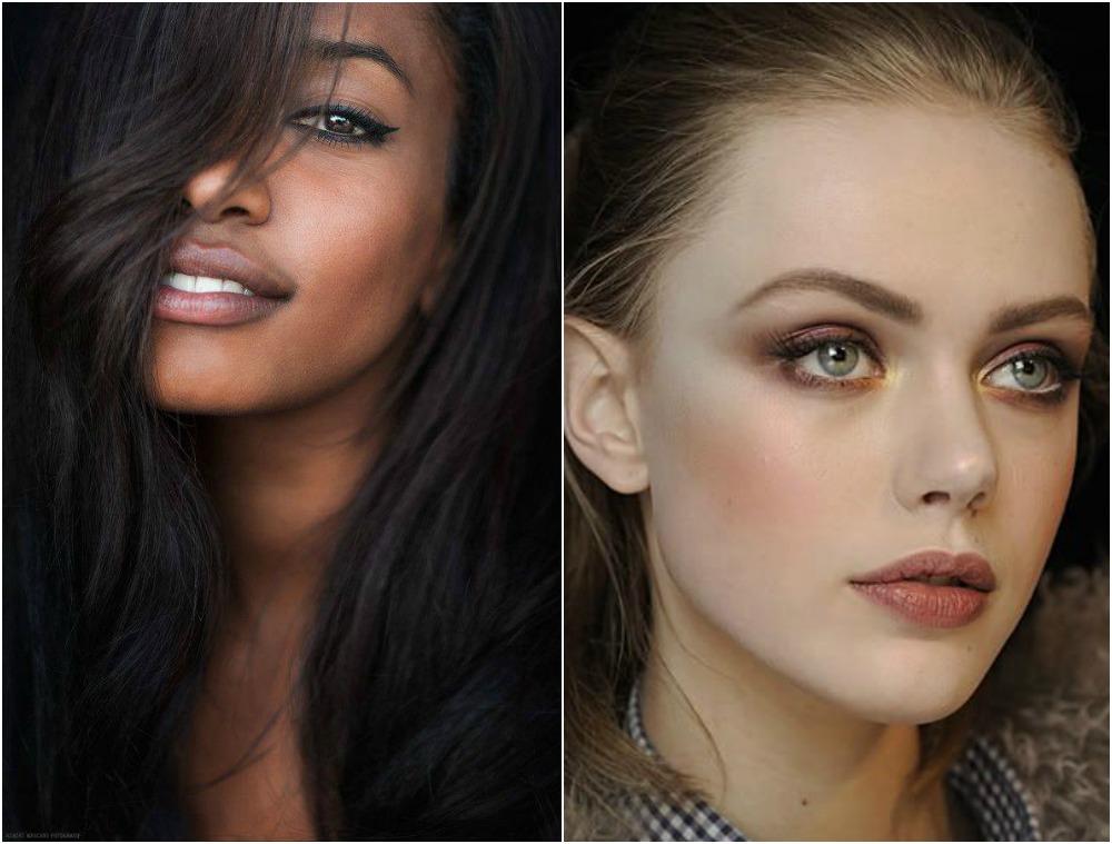 Dark Nude Lipstick Makeup Look Light Brown Lips