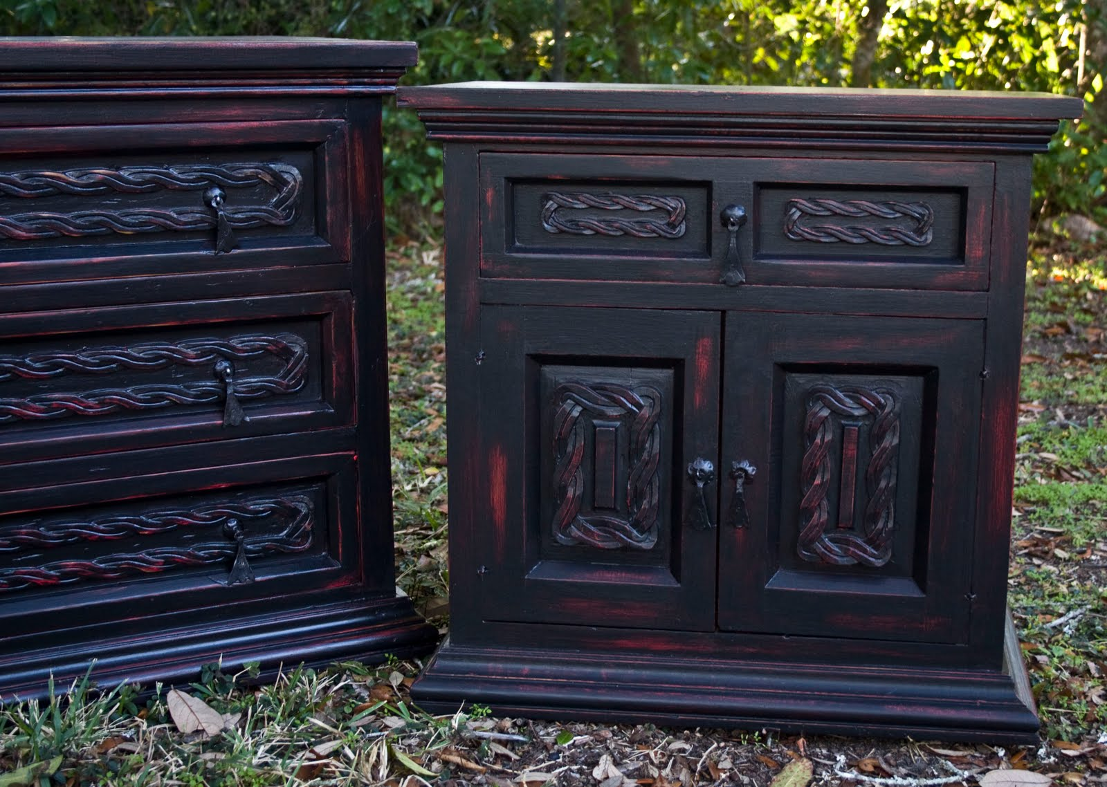 #989033 Modernly Shabby Chic Furniture: Black And Red Dresser And Nightstand with 1600x1138 px of Most Effective Black Nightstand And Dresser 11381600 wallpaper @ avoidforclosure.info