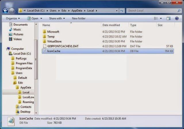 Cara Rebuild Icon Cache Yang Hilang Di Windows 7 dan Windows 8