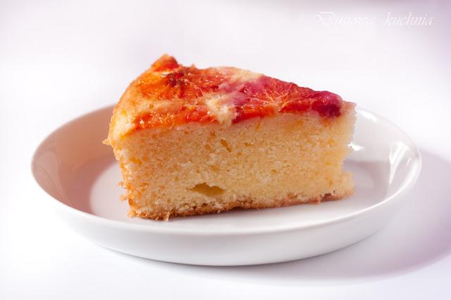 ciasto z pomarańczami, ciasto z czerwonymi pomarańczami, odwrócone ciasto z pomarańczami