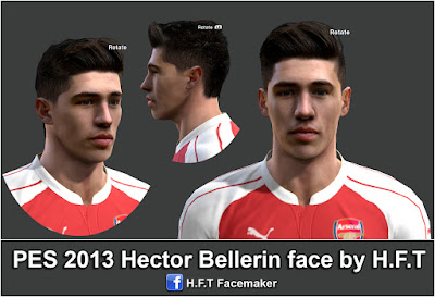 PES 2013 Bellerin face by H.F.T
