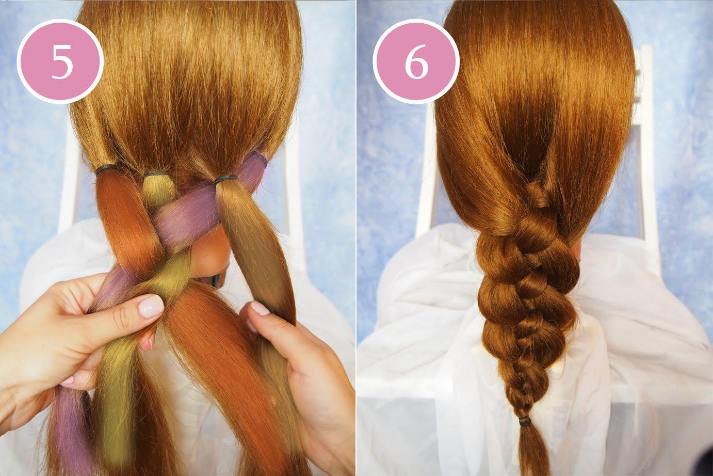 how to braid 4 strands step by step hair 4 strand braid
