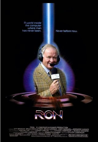 Ron, Ron Atkinson, Tron, funny, football, movie poster, film poster, meme