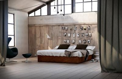 diseño habitación rústica