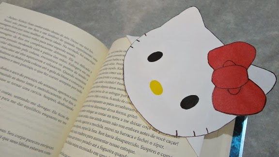 diy marcador de livro hello kitty