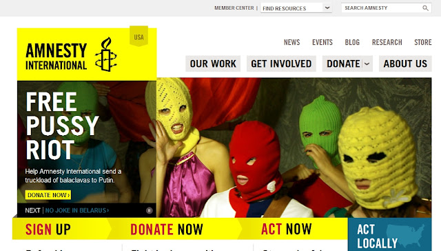 Amnesty International is US State Department Propaganda Amnesty PussyRiot