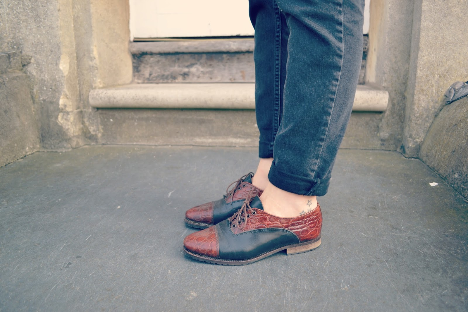 whistles jeans star tattoos blogger bally vintage brogues