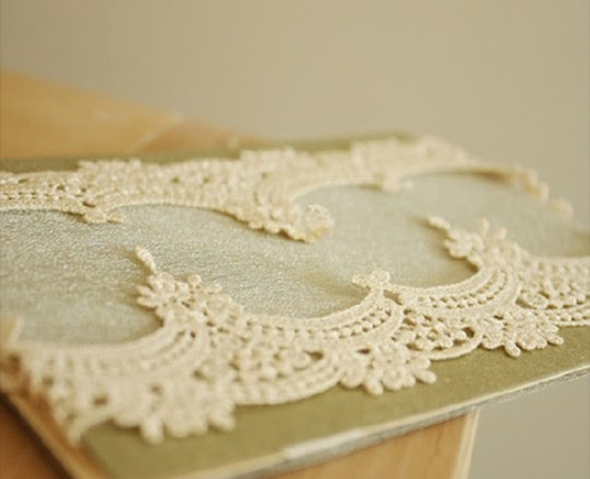 vintage luxury folded lace wedding invites