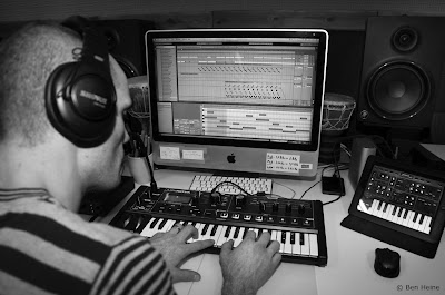 Ben Heine editing a track in Ableton Live - Lion Walk Animation - Music in Progress © 2013 Ben Heine