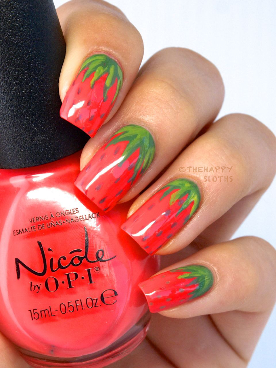 Strawberry Manicure: Strawberry Nail Art Design