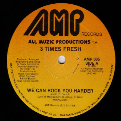 3 Times Fresh – We Can Rock You Harder (1986, 12'', 192)