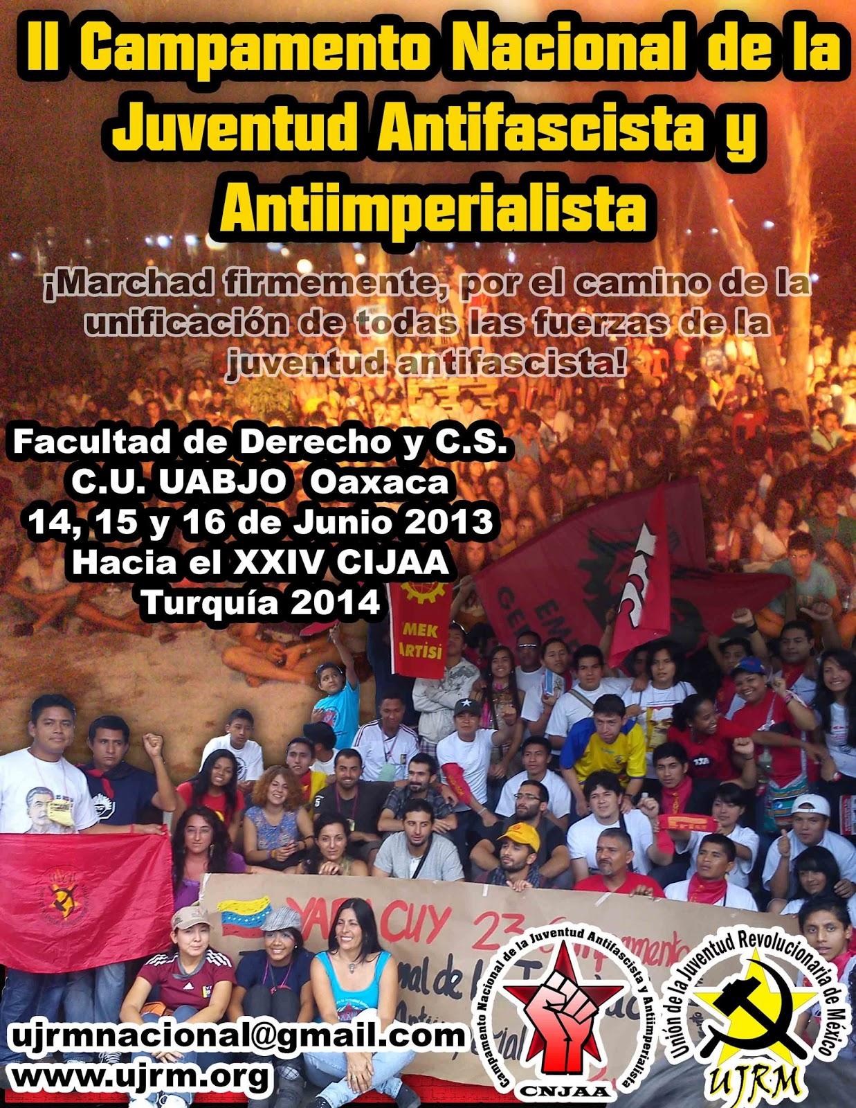 Cartel II Campamento Nacional de la Juventud Antifascista y Antiimperialista