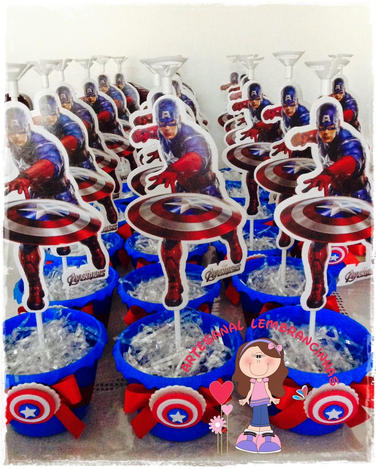 Centro De Mesa Capitán América: ARTESANAL LEMBRANCINHAS: Centro De Mesa Capitão América