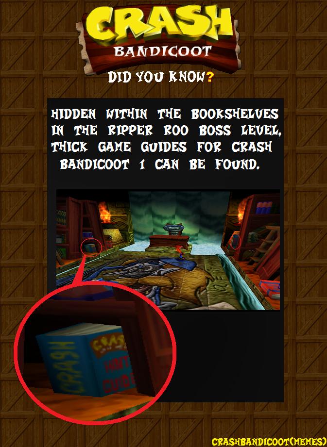 Crash Bandicoot MEMES: Crash Bandicoot Did You Know ...