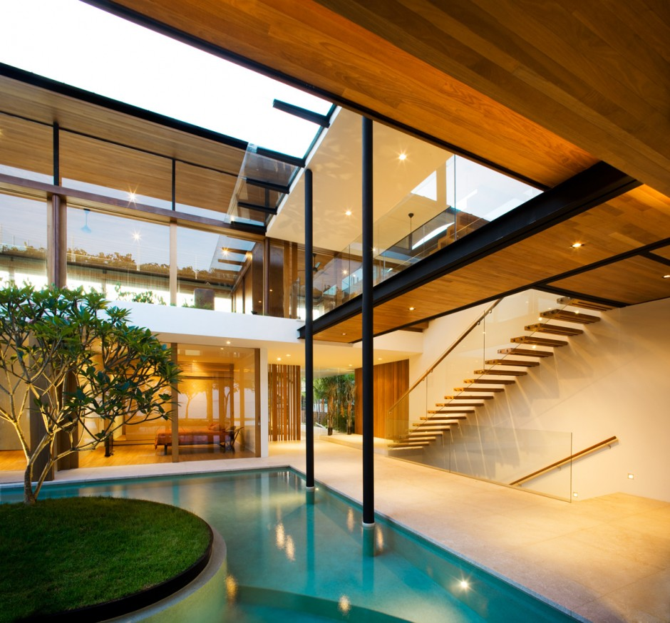 Modern luxury tropical house most beautiful houses in the for Luxury home designers architects