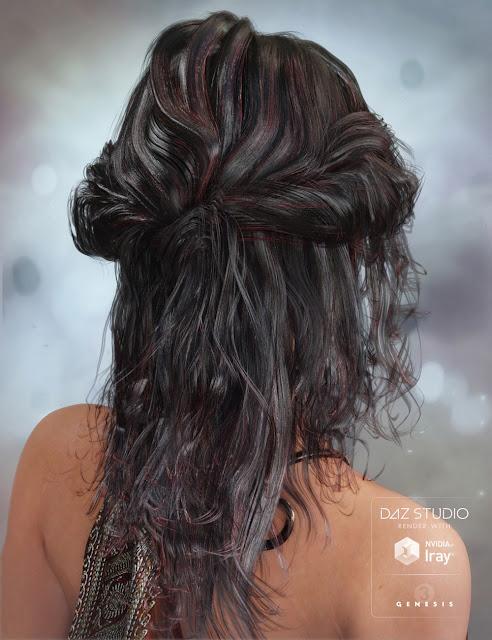 Galene Hair for Genesis 3 Female