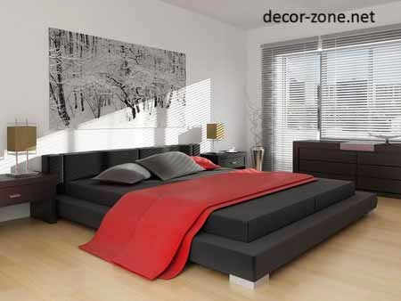 black master bed designs