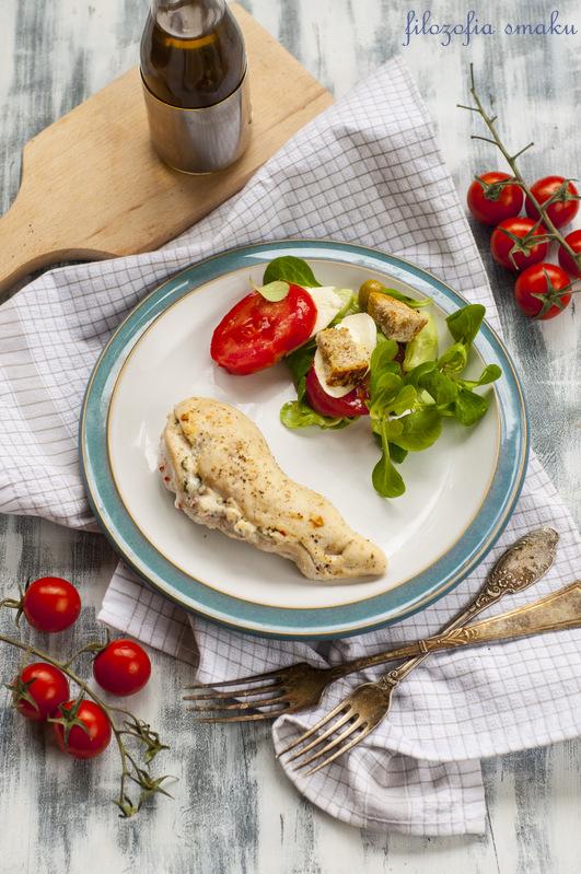 Kurczak faszerowany ricottą i ziołami