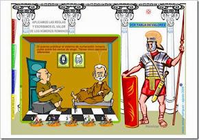 APLICAMOS LAS REGLAS Y ESCRIBIMOS EL VALOR DE LOS NÚMEROS ROMANOS