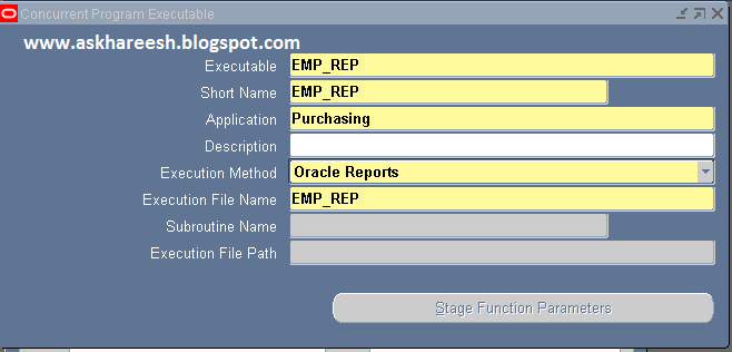 Report Registration in Oracle Apps, askhareesh blog for Oracle Apps