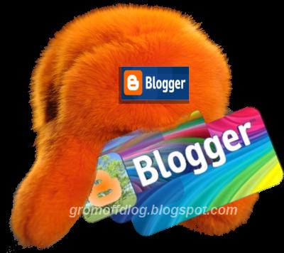 Оранжевая меховая шапка с логотипом Blogger