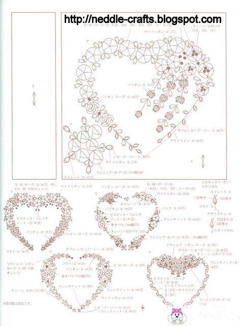 Вышивка картины лентами схема для начинающих