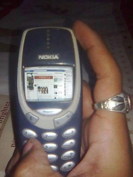 Edisi SANTAI BerGAMBAR: Online Facebook Dengan Handphone Nokia 3310