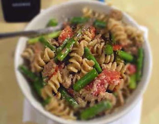 Pasta with Asparagus and Turkey Sausage